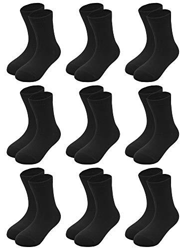 Cooraby 15 Pairs Toddler Kids Cotton Socks Boys Girls Short Breathable Socks (2-4 Years, Black)