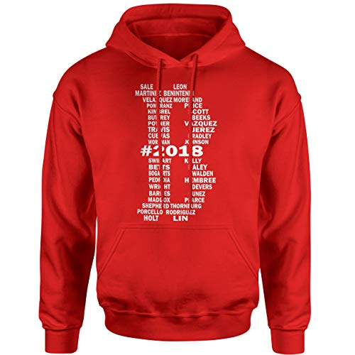 ited Edition 2018 Team Roster Names Hoodie (3X, Red) ()