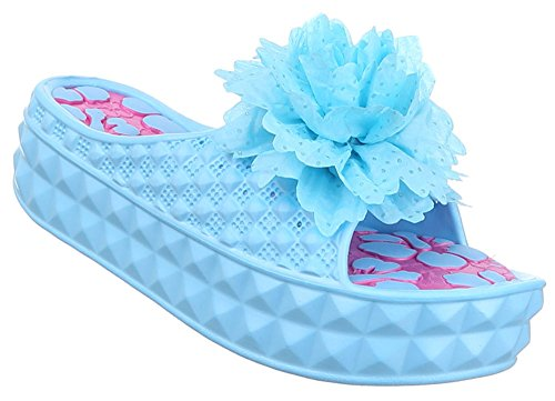 Mules 40 38 37 41 Blau Sandalen Damen Offen Pantoletten Schuhe Pink 36 Weiss Schwarz Sommerschuhe 39 qtU7p61x
