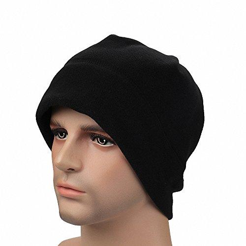 Maoko Fleece Watch Cap/ Winter Warm Hat/ Daily Slouchy Beanie Skull Cap Black