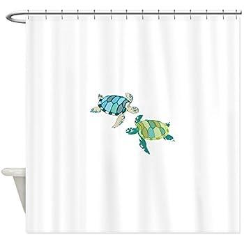 CafePress Sea Turtles Shower Curtain Decorative Fabric