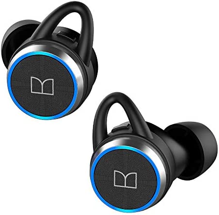 Monster True Wireless Bluetooth Earbuds, Bluetooth 5.0 In-Ear Headphones with Charging Case, TWS Stereo Earphones Deep Bass Sound, IPX5 Waterproof, Built-in Mic, Clear Call, Secure Fit for Sports