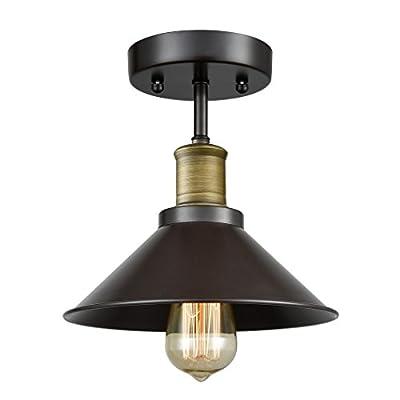 CLAXY Ecopower Industrial Mini Edison Ceiling Light 1-Light