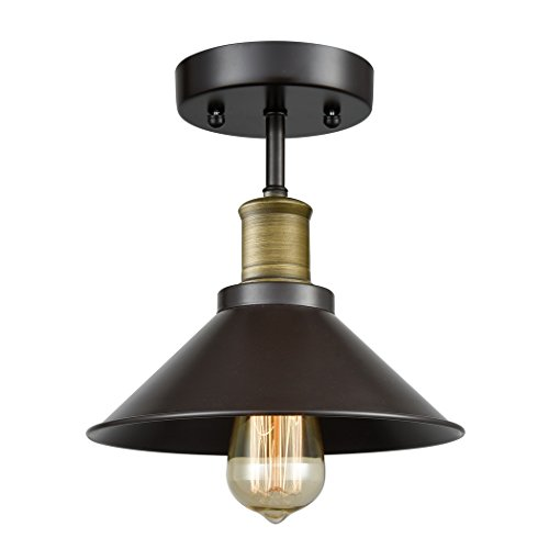 CLAXY Ecopower Industrial Mini Edison Ceiling Light 1-Light - Entrance English Bronze