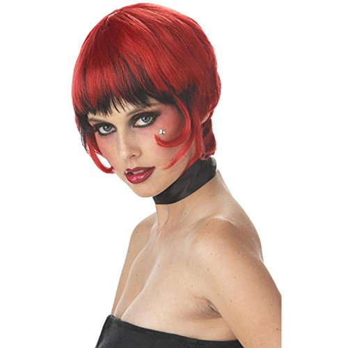 Ladies Red/Black Vampiress Costume Wig - Bonnie Costume For Sale