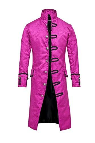 Mens Jacket Velvet Goth Steampunk Victorian Frock Coat