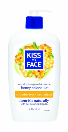 Kiss My Face Honey & Calendula Ultra Moisturizer for Extra Dry Skin, 16-Ounce Pumps (Pack of 3)