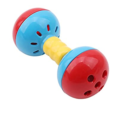 Edtoy Red and Blue Trumpet Baby Rattles Teething Toys,Infant Shaking Bells for Newborn: Toys & Games