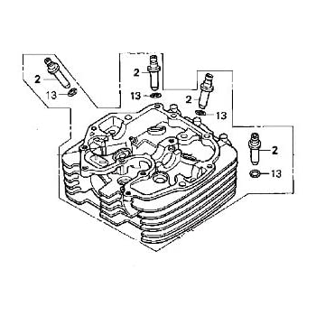 Amazon Com Honda 12201 Kz3 L20 Cylinder Head Automotive