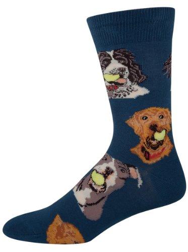 Blue Dog Antiques (Socksmith  Men's Ball Dog Antique Blue 1 Sock)