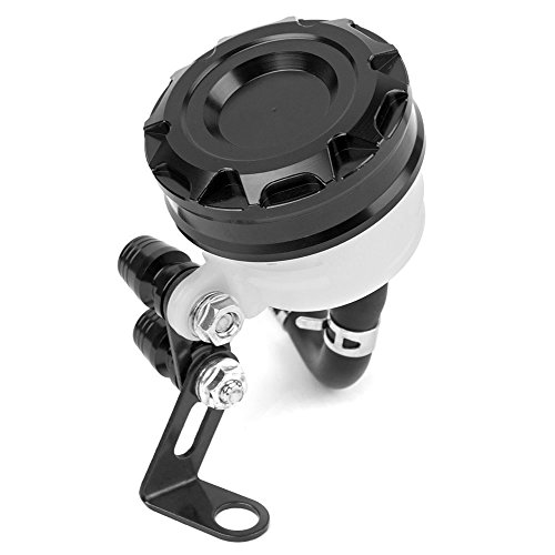 - Universal Motorcycle CNC Front Brake Fluid Reservoir Clutch Tank Oil Fluid Cup (Black)