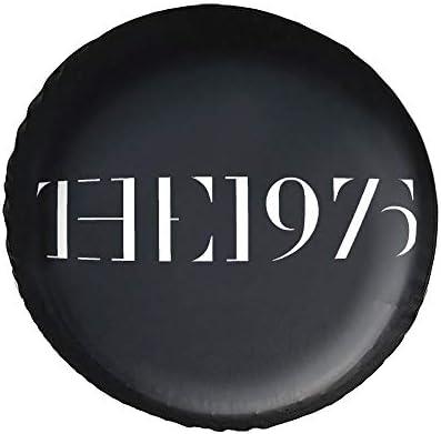 The 1975 Logo Png タイヤカバー タイヤ保管カバー 収納 防水 雨よけカバー 普通車・ミニバン用 防塵 保管 保存 日焼け止め 径83cm