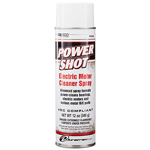 Duratrax Power Shot Electric Motor Cleaner Spray for Radio Controlled Electric Motors, 12 ounces