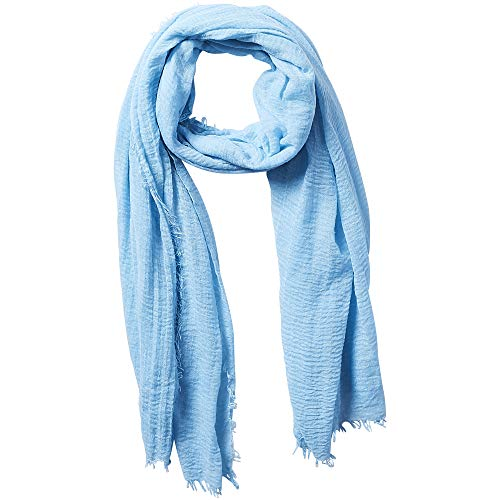"Tickled Pink Insect Shield Bug Repelling Classic Sheer Long Lightweight Vintage Scarf for Summer 38 x 70"" - Light Blue"