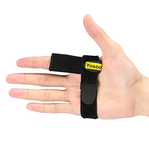 Trigger Finger Splint with an Extra Hook&Loop Tape, Original Finger Splint for Finger Stiffness, Clicking & Popping, Pain Relief from Stenosing Tenosynovitis by Yosoo