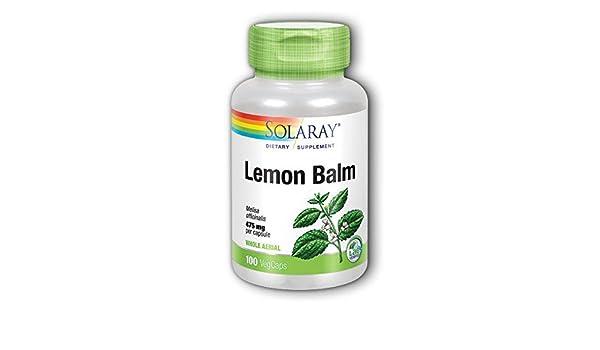 Solaray - Magnesio del bálsamo 400 del limón. - 100 cápsulas: Amazon.es: Salud y cuidado personal