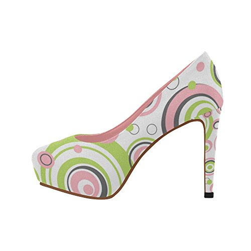 Cartoon 11 On Pumps Cute Color1 Prin Size InterestPrint Wedge 5 Heel Butterfly Flowers Womens Shoes Cats High Pattern 4xSSq0pwWa