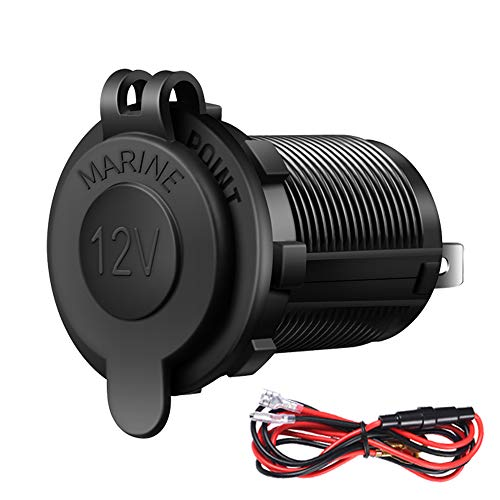 - Cigarette Lighter Socket Car Marine Motorcycle ATV RV Lighter Socket Power Outlet Socket Receptacle 12V Waterproof Plug by ZHSMS