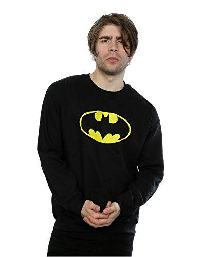 DC Comics Men's Batman Logo Sweatshirt Large -