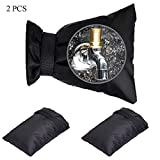 Set of 2 Outdoor Faucet Covers for Winter,7'x5.5' Waterproof Faucet Pipe Cover Socks for Freeze Protection Reusable Faucet Insulation