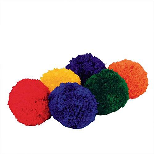 S&S Worldwide Spectrum Fleece Balls (Set of 6) (Fleece Ball)