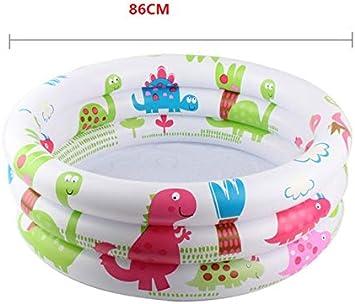 GLLCYL Piscinas para Niños, Piscina Redonda Inflable para Niños De 0-3 Años PVC Piscina Blanca Niños 86Cm
