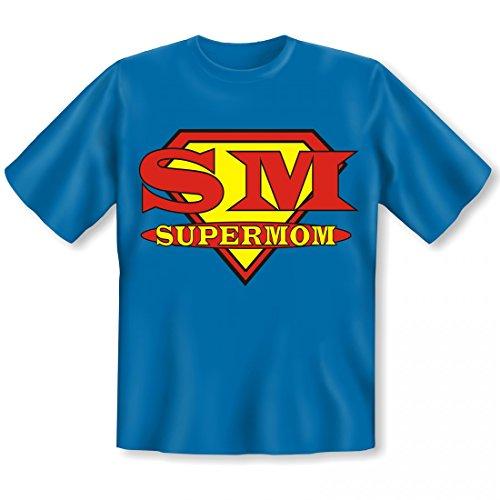 T-Shirt für die Mutter - SM Supermom - Superheldin Mama - Witziges Geschenk Set zum Muttertag - Shirt und Minishirt