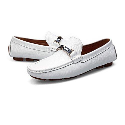 Shoes Antiscivolo Bianca Sunny Penny da Color Solid amp;Baby gomma in guida per EU Mocassini Color Mocassini Dimensione suola Bianca 42 uomo casual Boat UUvwga