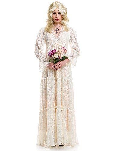 Lost Halloween Costumes (Charades Women's Lost Soul Gown, Ivory, Large)