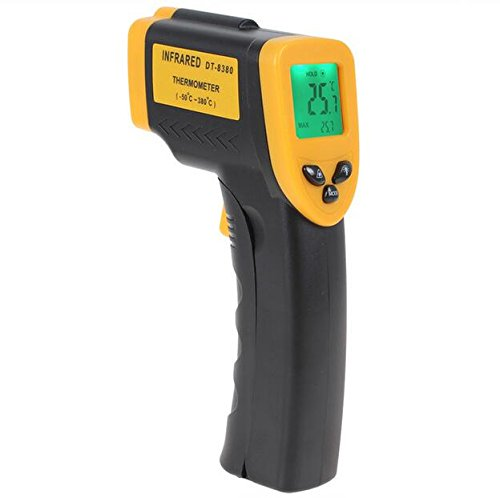 POP-READY Digital Infrared Thermometer, Non-contact Instant Read Laser IR Thermometer -58°F ~ 716°F(-50℃~380℃) Emissivity 0.1-1.0 Temperature Gun with LED Backlight