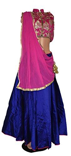 Cotton Chaniya Cholis (Women's Embroidered Stitched Designer Indian Ethnic Chaniya Choli for Navratri)