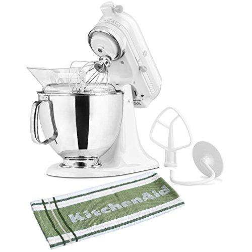 KitchenAid Artisan Series White on White Stand Mixer with Free Kitchen Towel (Stand Mixer Towel compare prices)