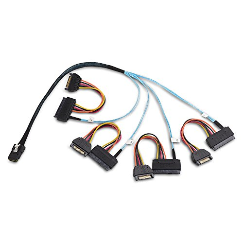 Cable Matters Internal Mini SAS to SAS Cable (SFF-8087 to SFF-8482) 1.6 Feet / 0.5m (Channel Multi 8 Port)