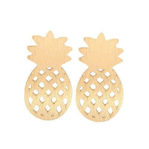 e85ca0ef2 RoseSummer Tiny Cute Pineapple Stud Earrings Minimalist Decoration Jewelry  For Women Girls