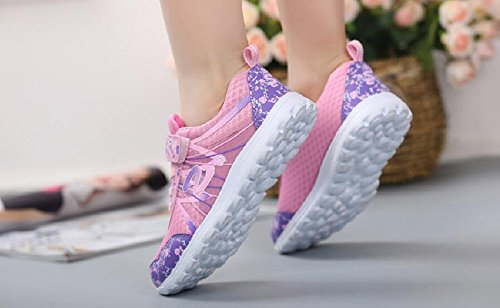 Little Kid//Big Kid ZLYL Breathable Strap Closure Outdoor Trail Running Shoe for Girls