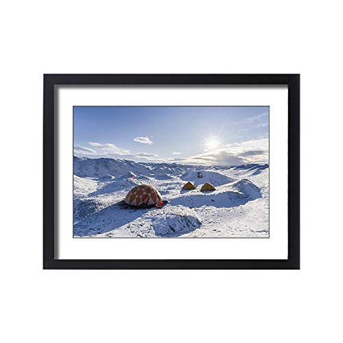 - Media Storehouse Framed 24x18 Print of Camp on ice Cap at Greenland Ice Sheet, Kangerlussuaq, Greenland (18241919)