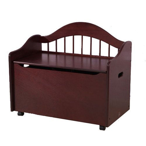Kidkraft Limited Edition Toy Box - Cherry - Kidkraft Bookshelf Natural