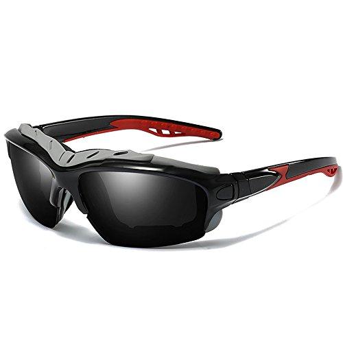 Polarizadas de Sol MS Jinete Mar de Arena Gafas Wind ksung® Espejo Nuevas seguridad hombres Gafas rojo Sports Negro Gafas SEEKSUNG® De sol rojo Outdoor fanvzz