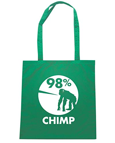 Speed Shirt Borsa Shopper Verde FUN0103 98 PERCENT CHIMP