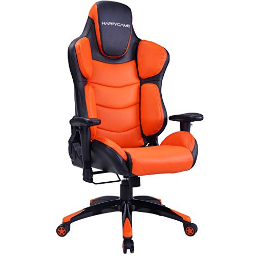 happygame large size racing gaming chair 350 lbs capacity ergonomic