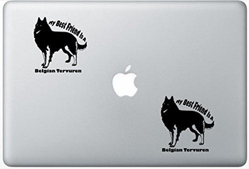 My Best Friend Is A Belgian Tervuren - Belgian Tervuren Decal PetsAffectionLaptop0316 Set Of Two (2x) , Dog Decal , Sticker , Laptop , Ipad , Macbook