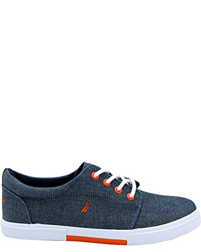 Nautica Boys' Berrian Low-Top Sneakers (Sizes 13-5) - Chambray Blue, 5 Youth by Nautica (Image #5)