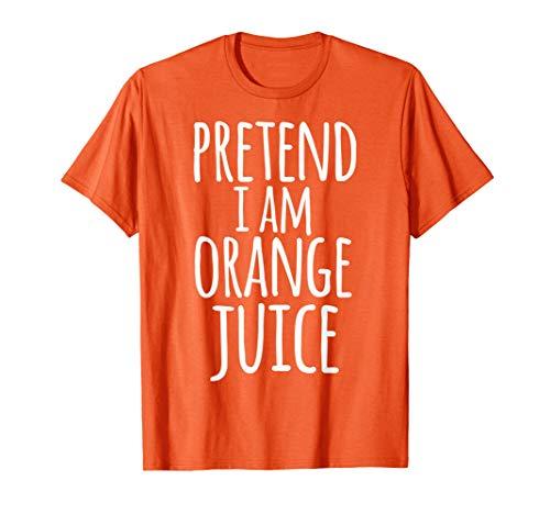 Funny Lazy Halloween Shirt PRETEND I AM ORANGE JUICE COSTUME -