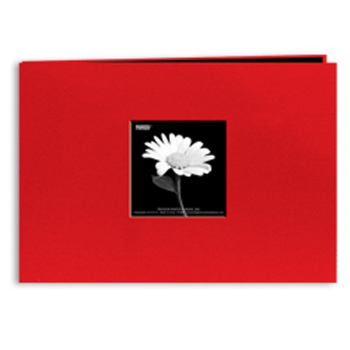Pioneer 5 Inch by 7 Inch Postbound Fabric Frame Front Memory Book, Apple Red (Album Photo Christmas 5x7)