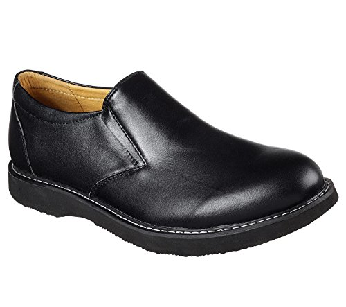 Black Leather Shoe Solden 65304 Lifestyle Men's Skechers Molven 7TzfTx