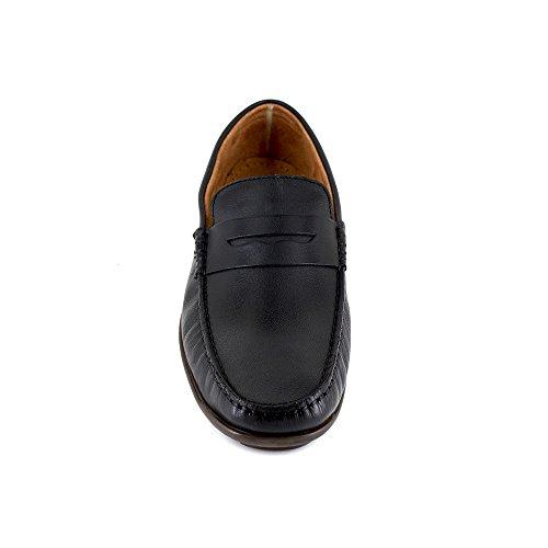 Peter Negro Blade Formal Cuero Hombre Mocasin Zapatos wHqCBwg