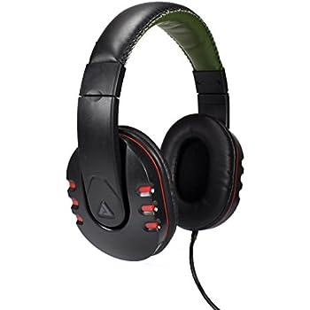 Audio Council Onyx Premium DJ Style Over-Ear Headphones (Black/Olive-Camo)