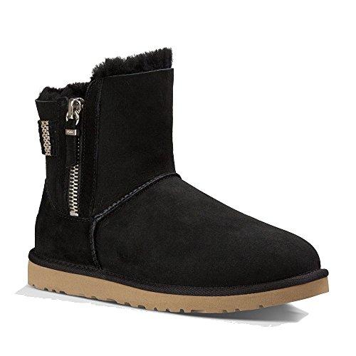 UGG Women's Aztek Woven Suede Black Twinface Boot 11 B (M) (Ugg Boots Back Zipper)