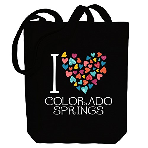 US Bag Idakoos Tote hearts Springs I Cities love Colorado colorful Canvas w6qSYxB6vf