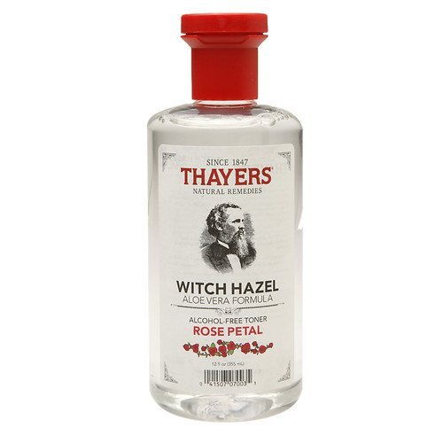 Thayers Alcohol-free Rose Petal Soothing Witch Hazel for Face & Skin with Aloe Vera, 12 oz (Pack of 3) Vita Sprout